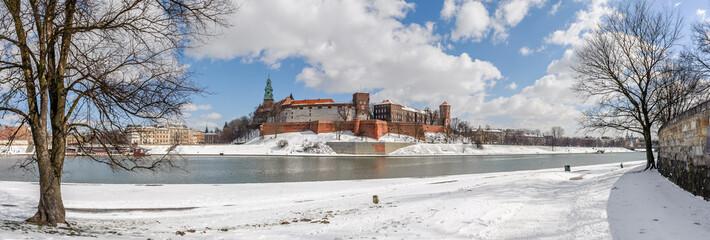 Wawel zimą - panorama
