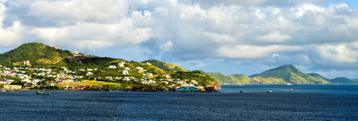 Saint Kitts island scenic view