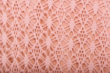 cotton fabric texture with pink lace