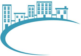 Blue Housing Banner