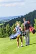 Beim Golf spielen
