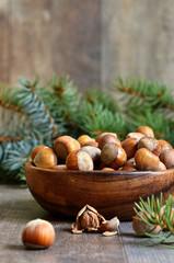 Hazelnuts.