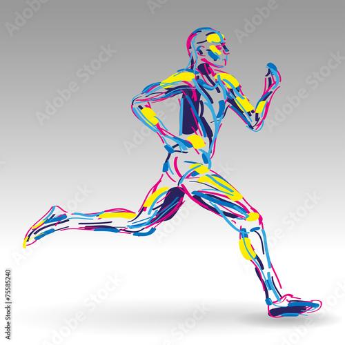 Fototapeta biegacz rysunek wektor