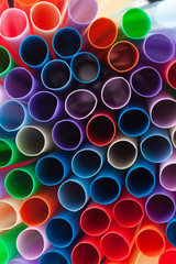 plastic straws abstract background