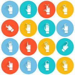 Hand Touching Screen Flat Icon