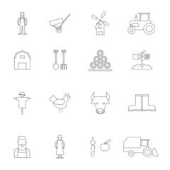 Farm Icon Outline