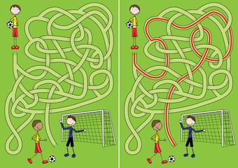 Soccer maze