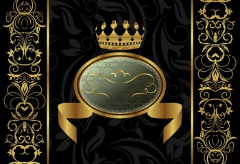 ornate background with crown