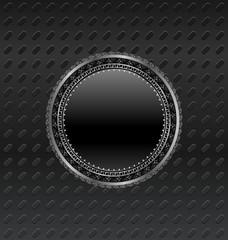 heraldic circle shield on titanium background