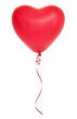 Leinwanddruck Bild - Red heart shaped balloon.