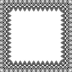 Floral Vector Pattern. Fine Frame
