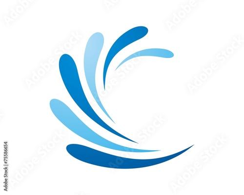 splash water logo template © kutukupret