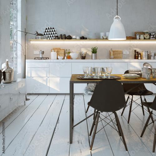wei e k che in altbau wohnung modern white kitchen. Black Bedroom Furniture Sets. Home Design Ideas