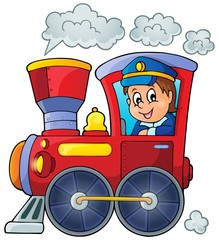 Image with train theme 1