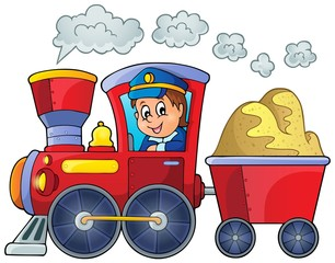 Image with train theme 2