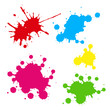 Collection of colorful paint splash.