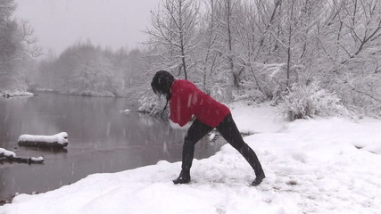 Yoga Practice in Winter