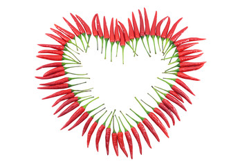 Red chili pepper heart