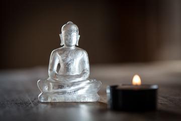 bouddha en verre