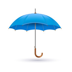 classic elegant opened umbrella isolated on white background.
