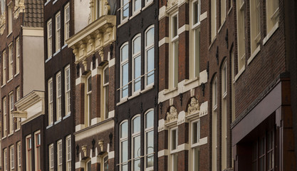 Typical architecture of dutch buildings front