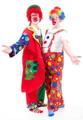 clowns präsentieren sich