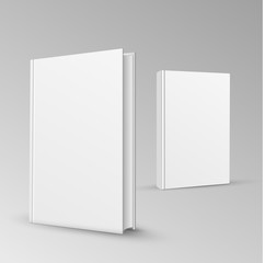 Blank book cover vector illustration gradient mesh.