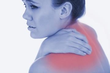Upset woman suffering from backache