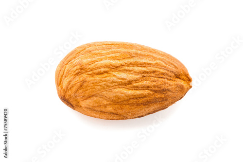 Fotobehang Aromatische almond isolated on white background