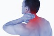 Young man experiencing neck pain