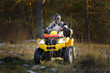 Man driving quad bike - 75589882