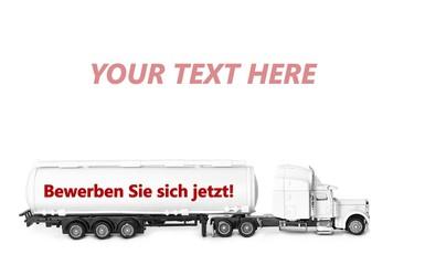 Jetzt bewerben - Konzept Transport