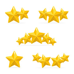 Vector rating hotels stars concept on black