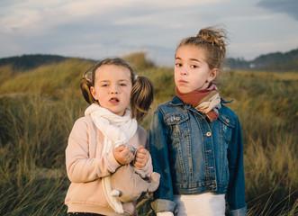 Two sisters portrait