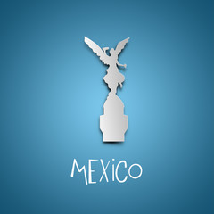 Mexico. Blue greeting card.
