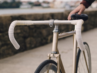 Fixie bicycle detail