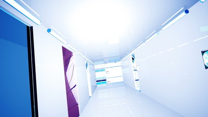 Ultra Modern Building Corridor 3D Animation Photorealistic 3D