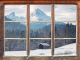 Fototapety Fensterblick zum Watzmann