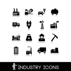 Industry icons set 1