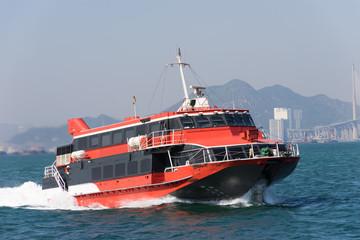 Jetfoil ferry in Hong Kong (香港 高速フェリー)