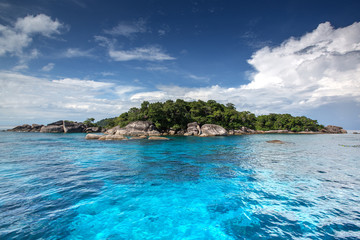 Crystal clear water of tropical island, Similan, Thailand