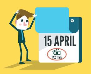 Tax Time Calendar. flat design elements. vector illustration
