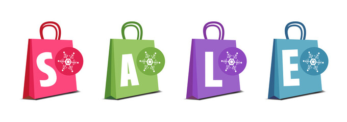 Winter shopping bags
