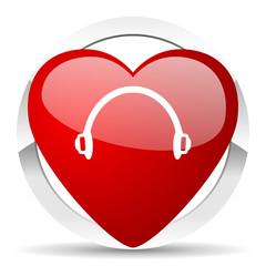 headphones valentine icon