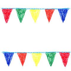 Wax crayon party bunting