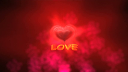 love heart 4k