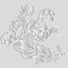 abstract russian floral pattern. vector illustration
