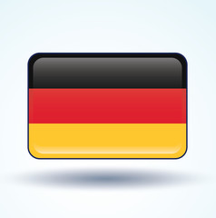 Flag set of Germany, vector illustration