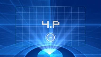 4P Marketing mix hologram