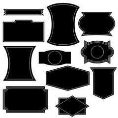 Set of vintage logo shapes